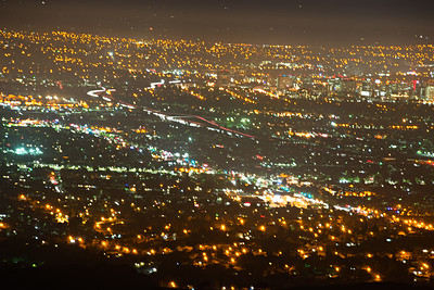 san jose city lights at night