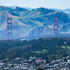 golden gate bridge view from twin peaks san francisco