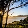 baker beach and golden gate bay at sunset in california