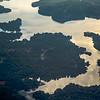 flying over lake norman north carolina in morning