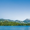 beautiful alaskan mountains and lakes landscapes on sunny day