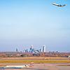 charlotte north carolina airport with city skyline