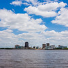 baton rouge downtown skyline across mississippi river