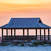 gazebo and sunset at hendesrson point mississippi