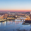 pittsburgh pennsylvania city skyline at sunrise