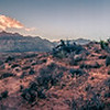 red rock canyon nevada at dusk