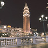 November 2017, Las Vegas Nevada - architecture and buildings at night near venetian hotel las vegas