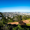 san francisco california skyline and surroundings from corona heights
