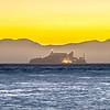 san francisco and alcatraz scenery at sunset