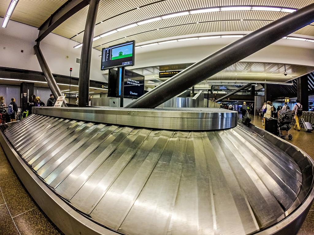 luggage claim area at international airport