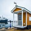 tiny house shed on wheels near lake michigan