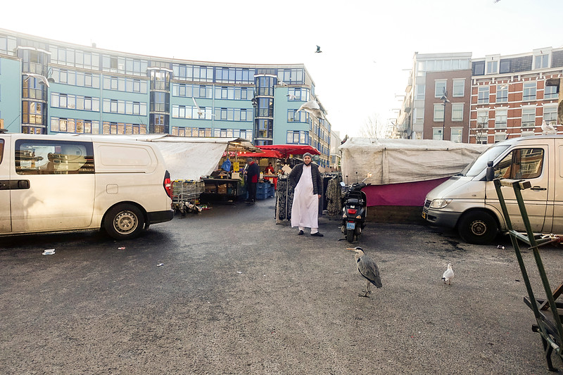 Nederland, Amsterdam, Amsterdam oost, De Dappermarkt, 6 januari 1017, foto: Katrien Mulder