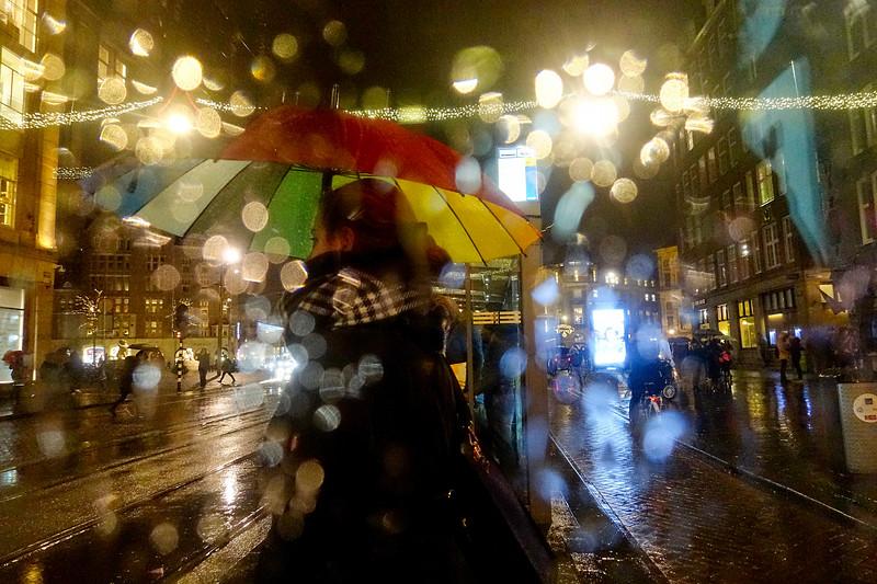 Nederland, Amsterdam, 12 januari 2017, regen, foto: Katrien Mulder