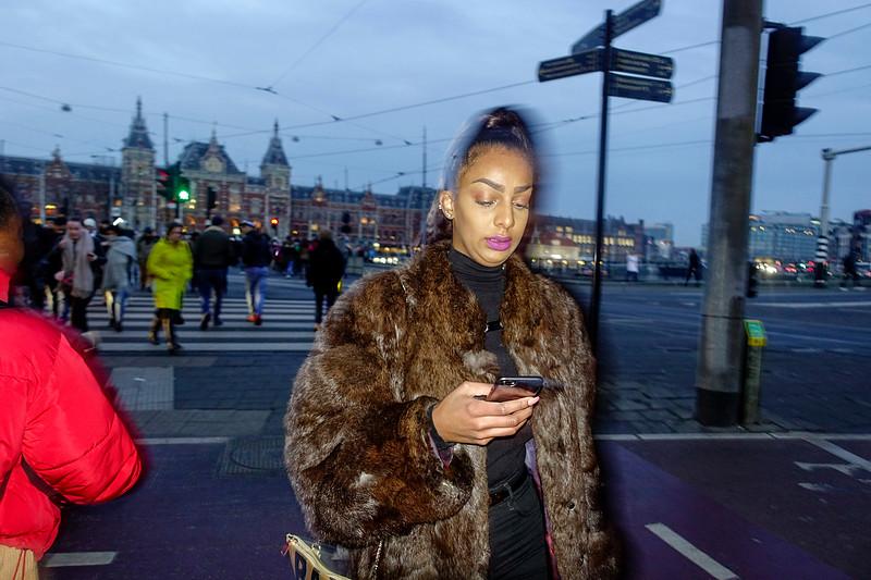 Nederland, Amsterdam, Damrak,  27 januari 2017, foto: Katrien Mulder