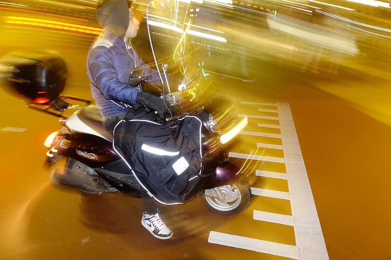 Nederland, Amsterdam, scooter Prins Hendrikkade, 28 januari 2017, foto: Katrien Mulder