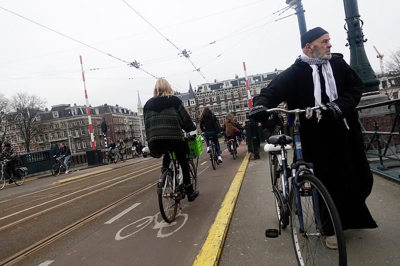 Nederland, Amsterdam, Nieuwe Amstelbrug, 31 januari 2017, foto: Katrien Mulder