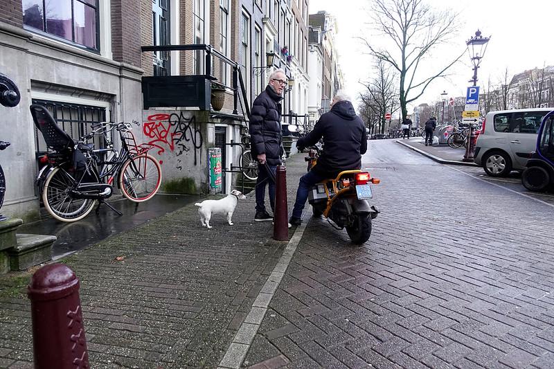 Nederland, Amsterdam, ontmoeting op de keizersgracgt,  27 februari 2017, foto: Katrien Mulder