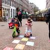 Nederland, Amsterdam, hinkelplaats in de eerste van der Helststraat in de Pijp, 2 maart 2017, foto: Katrien Mulder