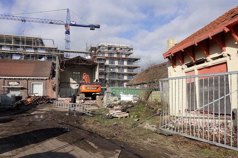 Nederland, Amsterdam, slopen en bouwen  Cruquiusweg, 6 maart 2017, foto: Katrien Mulder