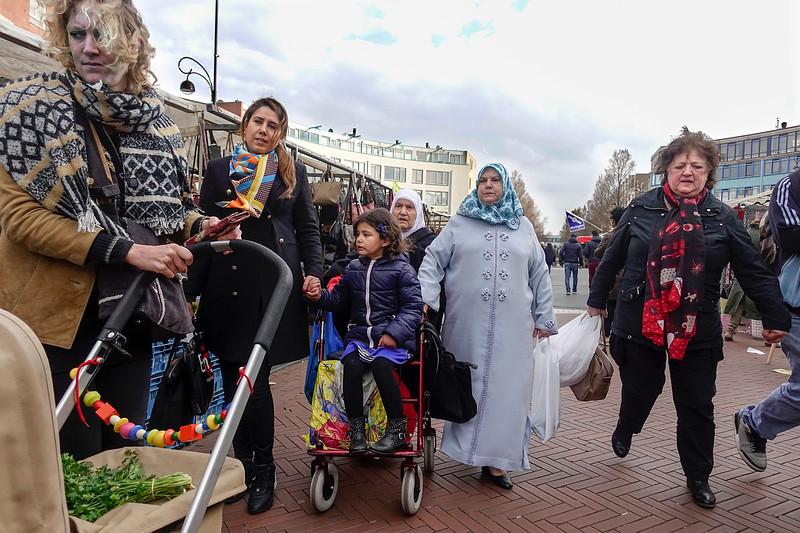 Nederland, Dappermarkt; Amsterdam, 22 maart 2017, foto: Katrien Mulder