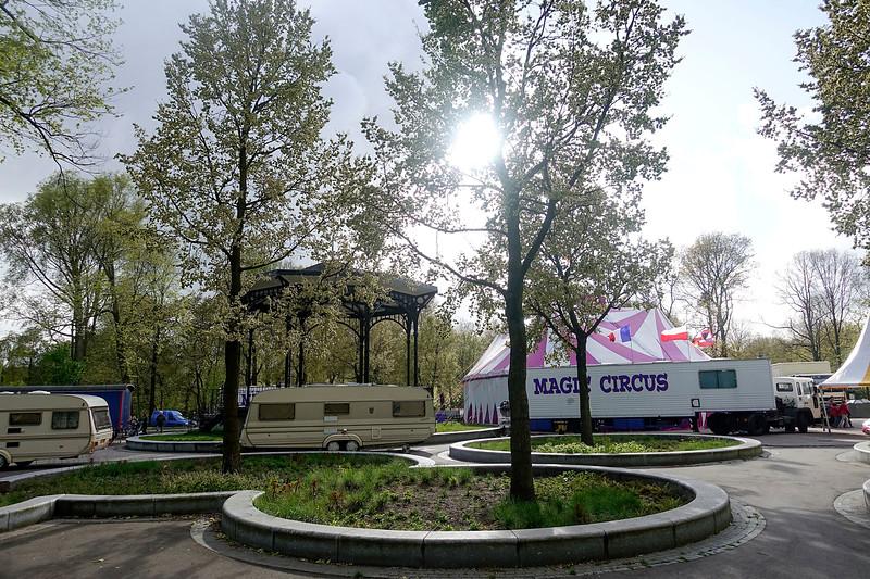 Nederland, Amsterdam, Amsterdam Oost, Magic Circus heeft zijn tenten opgeslagen in het Oosterpark, 25 april 2017, foto: Katrien Mulder