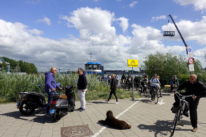 Nederland, Amsterdam, Aankomst Oostveer bij Zamenhofweg, 14 juli 2017, foto: Katrien Mulder