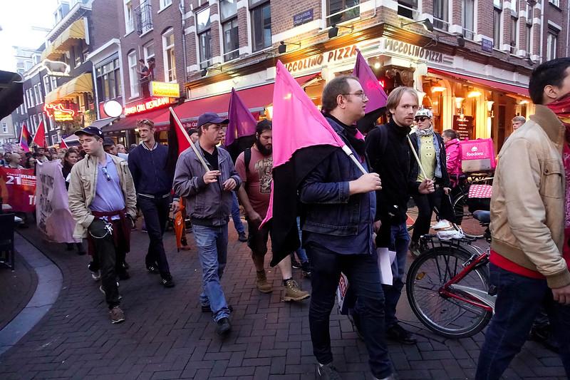 Nederland, Amsterdam, 17 augusttus 2017,  demonstratie georganiseerd door AFA, naar aanleiding van het geweld  in Charottesville, foto: Katrien Mulder