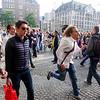 Nederland, Amsterdam, 19 augustus 2017, Op de Dam  strijden disputen van het Amsterdamse Studentencorps om hun favoriete nieuwe leden binnen te halen, foto: Katrien Mulder