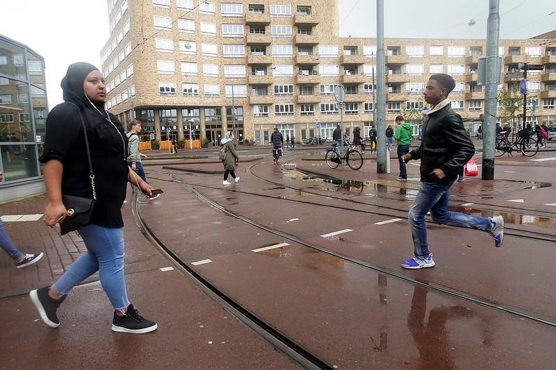 Nederland, Amsterdam, 8 september 2017, straatbeeld Insulindeweg bij nieuwbouwproject  De Smaragd, foto: Katrien Mulder