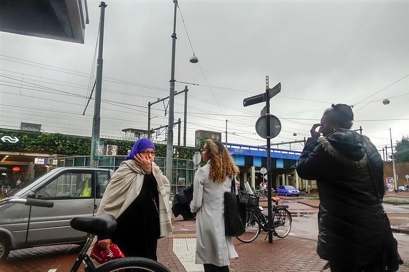 Nederland, Amsterdam, 8 september 2017, straatbeeld Insulindeweg bij Muiderpoortstation, Amsterdam Oost, foto: Katrien Mulder
