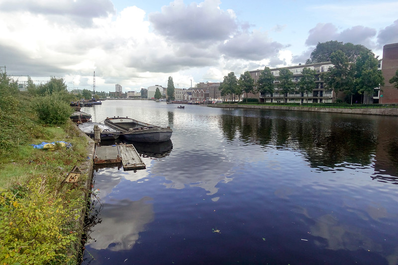 Nederland, Amsterdam, Dijksgracht, uitzicht op Kattenburg, 18 september 2017, foto: Katrien Mulder