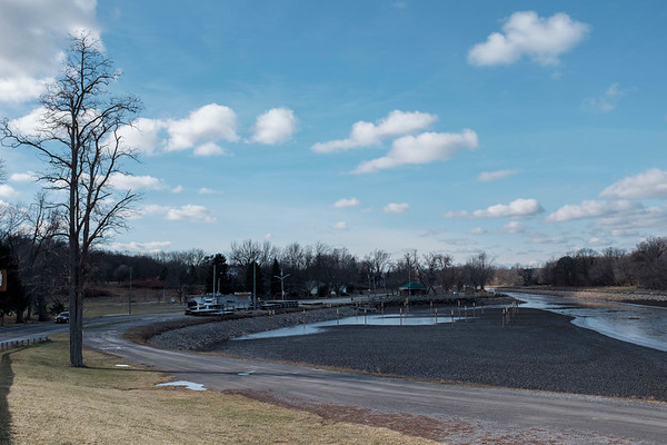 Joed Viera/Staff Photographer-Lockport, NY- The Widewaters Marina is dry and icy on a cold Friday afternoon.