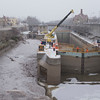 Joed Viera/Staff Photographer-Canal Corp. crews perform routine winter maintenance on Lock 34 and 35. Crews are replacing valves and doing maintenance work on the upper gates.