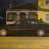 Joed Viera/Staff Photographer-Lockport, NY-A car parks on Walnut Street.