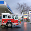Joed Viera/Staff Photgrapher-City of Lockport Engine 8 is fueled at the Mobil gas station on South Transit Road on January, 4, 2017 in Lockport N.Y.
