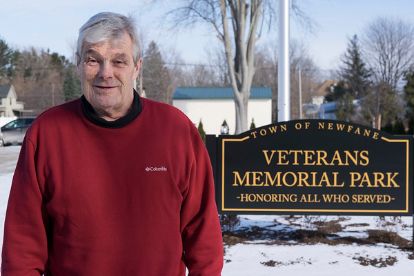 Joed Viera/Staff Photographer-Newfane,NY-Town Supervisor Timothy Horanburg stands at Veterans Memorial Park.