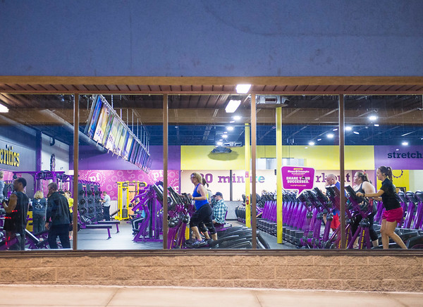 Joed Viera/Staff Photgrapher-Lockport, NY-Members work out at Planet Fitness on Transit Road.