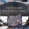 Joed Viera/Staff Photographer-Newfane,NY- A folded flag sculpture stands inside of  Veterans Memorial Park.