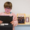 Joed Viera/Staff Photographer-Lockport, NY-Kyleen Mendetta, 8, reads a journal entry about Martin Luther King Jr. to her classmates at George Southard Elementary School
