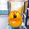 Joed Viera/Staff Photographer-Abigail Tubiolo, 6, plays inside the Williamsville YMCA's Adventure Center.