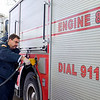 Joed Viera/Staff Photgrapher-City firefighter Mike Barnwell fuels Lockport Engine 8  at the Mobil gas station on South Transit Road on January, 4, 2017 in Lockport N.Y.