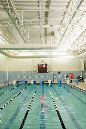 Joed Viera/Staff Photographer-A member does laps in the Williamsville YMCA's pool