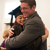 Joed Viera/Staff Photographer-Lockport, NY-Kimberly Ebanks hugs Literacy Zone Coordinator, Chuck Diemert after recieving her High School Equivalency Diplomas along with close to 30 other students during the BOCES graduation ceremony at Christ Community Church on Thursday Night.