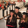 Joed Viera/Staff Photographer-Lockport, NY-(clockwise) Tina Netzel, Zach Lockwood, Shawna Woods and Ronesue Chase clap after recieving their High School Equivalency Diplomas along with close to 30 other students during the BOCES graduation ceremony at Christ Community Church on Thursday Night.