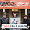 Joed Viera/Staff Photographer-Lockport ,NY-Jane Armbruster, Mary Brennan-Taylor and Kathleen Granchelli, stand in front of the YWCA Wednesday afternoon. The three woman will be participating in the Woman's March on Washington. Taylor and Granchelli will be representing the YWCA and Armbruster will be attending the march with a group from the Elmwood Unitarian Church located in Buffalo.