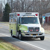 Joed Viera/Staff Photographer-Somerset, NY-Barker Fire Department's Emergency Medical Services vehicle leaves the powerplant after responding to a call of a man stuck in sludge.