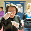 "Joed Viera/Staff Photographer-Patty Lavocat trys the ""Radiator Red"" chili at the fourth annual chili cook-off at the GM Components Lockport plant."