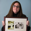 Joed Viera/Staff Photographer-Lockport ,NY- Mary Brennan-Taylor holds a frame containing a prized photograph of her and womens suffrage hero Alice Paul. According to Brennan-Taylor the two met when was she 17, the meeting shaped the rest of Mary's life.