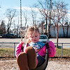 JOED VIERA/STAFF PHOTOGRAPHER-Lockport, NY-Makayla Klumpp, 4, swings at Altro Park.