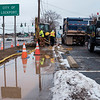 Joed Viera/Staff Photographer- Lockport, NY- A Town of Lockport crew works on a water line break on   South Transit Road near Dorchester Road.
